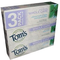 Tom's Of Maine Whole Care Toothpaste With Flouride Peppermint Flavor 4.7 Ounce