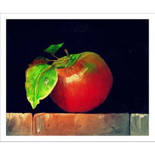 Acralic painting of apple