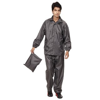 Grey Raincoat With Lower And Cap (3 In 1)