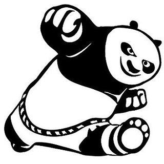 Asmi Collections PVC Wall Stickers Cute Kung Fu Panda