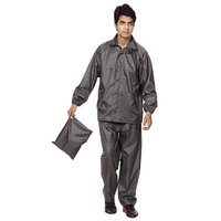 Jim Dandy Brown Plain Raincoat With Lower And Cap (3 In 1)