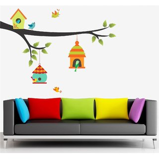 Asmi Collections Wall Stickers Beautiful Birds Nests
