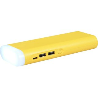 Lionix Fast Charging Dual USB 10400 Mah Yellow Power Bank With Top Light (With 6 Months Manufacturing Warranty)
