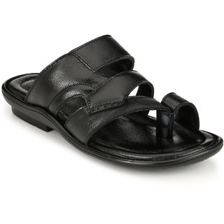 Lee Peeter Men's Black Slip on Sandals