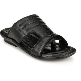 Buy Lee Peeter Men S Black Leather Sandals Online Get 45