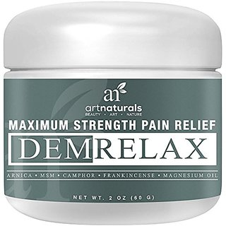 ArtNaturals Demrelax Pain Relief Cream, Helps Relieve Sore Joints, Muscles,  Back, Neck Pain and Arthritis, Maximum Strength Treatment, Arnica, MSM and