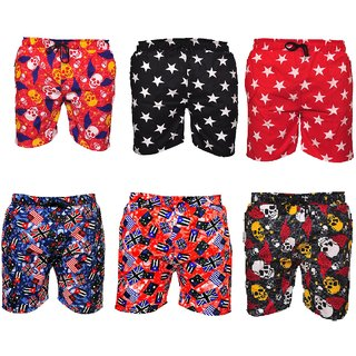 Men's Cotton Printed Boxers (Pack of 6)