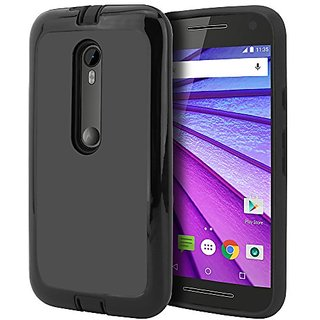 low priced 788ed bb7f2 Moto G Case, Moto G 3rd Generation Case, CellJoy [Shell Armor] [Black]  Motorola Moto G3 3rd Gen 2015 XT1550 Hybrid Slim Fit [TPU] Dual Protection  ...