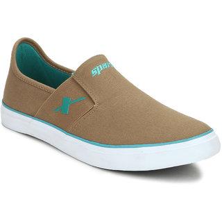 Sparx Men's Khaki Slip on Sneakers