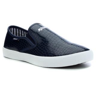 Sparx Men Navy Blue & White Casual Shoes (SM-293)