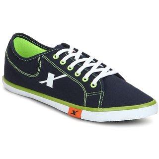 buy sparx men navy blue  flourscent green casual shoes