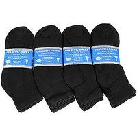 Falari Diabetic Socks Ankle Men Unisex Size 10-13 Black