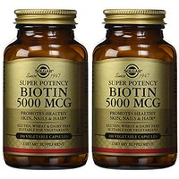 Solgar - Biotin 5000 Mcg Vegetable Capsules  100 Count,
