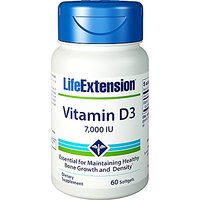 Life Extension - Vitamin D3 - 7000 Iu - 60 Softgels (Pa
