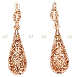 18K Rose Gold Water Drop Earrings