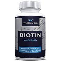 Wellscientific Biotin 10,000 Mcg - 120 Biotin Capsules