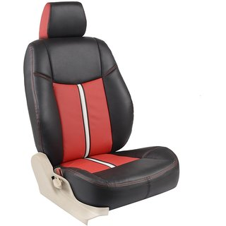 Autodecor Renault Duster Black  Leatherite Car Seat Cover with Neck Rest  Free