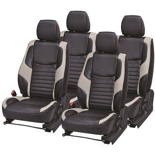 Autodecor Maruti Celerio Black Leatherite Car Seat Cover with Neck Rest Free