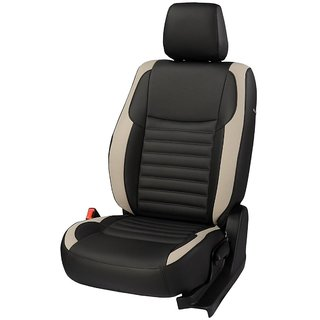 Autodecor Honda Jazz Black Leatherite Car Seat Cover with Neck Rest  Free