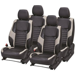 Autodecor Nissan Micra Black  Leatherite Car Seat Cover with Neck Rest  Free