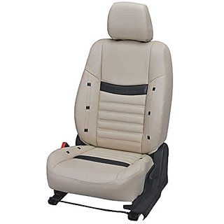 Autodecor Tata Aria Beige Leatherite Car Seat Cover with Neck Rest Free