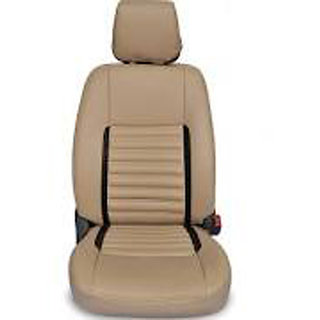 Autodecor Tata Nano Beige Leatherite Car Seat Cover with Neck Rest  Free