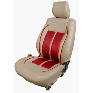 Autodecor Hyundai I-10 Beige Leatherite Car Seat Cover  with Neck Rest  Free