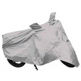 Relisales Premium Quality Bike Body cover Custom made for Bajaj Dominar 400 - Silver Colour