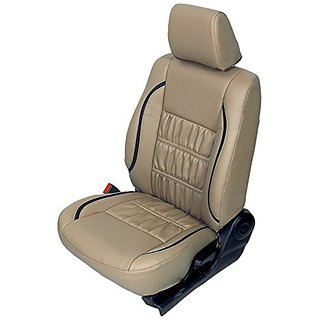Autodecor Ford Figo Beige Leatherite Car Seat Cover with Neck Rest Free