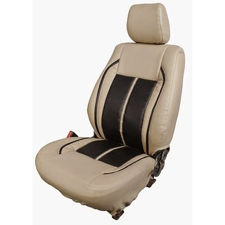Autodecor Hyundai Creta Beige Leatherite Car Seat Cover with Neck Rest  Free