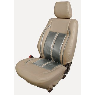 Autodecor Mahindra Verito Beige Leatherite Car Seat Cover with Neck Rest  Free