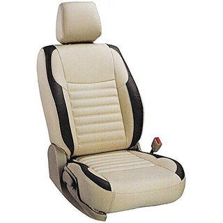 Autodecor Renault Scala Beige  Leatherite Car Seat Cover with Neck Rest  Free