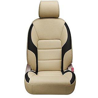 Autodecor Maruti Swift Dzire Beige Leatherite Car Seat Cover with Neck Rest Free