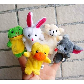 Finger Puppet Animal Baby Education Play Toy 5 pcs Hand Puppets Velvet Cotton