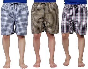 Cotton Men'S Multicolor Boxers(Pack Of 3)