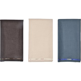 Kundan Sulz Gwalior Men's Executive Fancy Formal Trouser Fabric ( 3 Pant Piece for Men )
