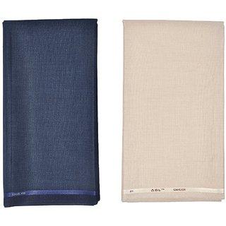 Kundan Sulz Gwalior Men's Executive Fancy Formal Trouser Fabric ( 2 Pant Piece for Men )
