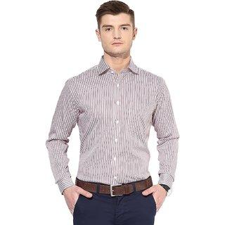 SPEAK Men's Red Fit Formal Shirt