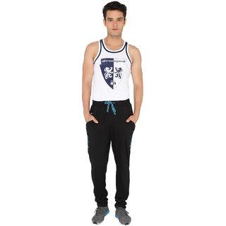 Chromozome Black Plain Pyjamas for Men