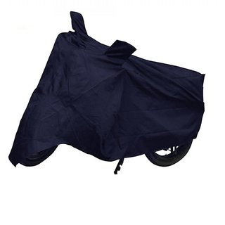 Relisales Two wheeler cover with mirror pocket with Sunlight protection for Hero Glamour - Blue Colour