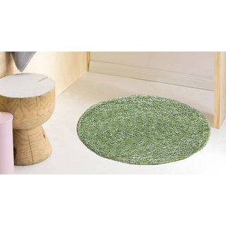 Azaani Beautiful Green Rounded Cotten Mat