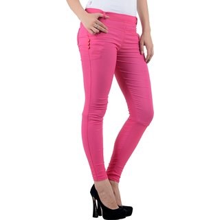 FeelBlue Women's Jeggings(DPink)