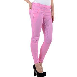 FeelBlue Women's Jeggings(Pink)