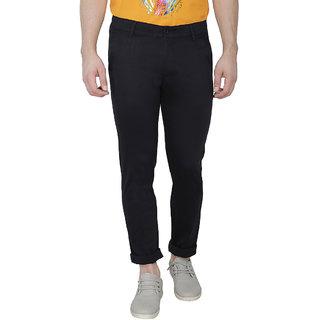 Balino London Slim Fit Black Casual Trousers for Men