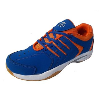 Port Mens Quuantum Synthetic PVC Blue Badminton Shoes