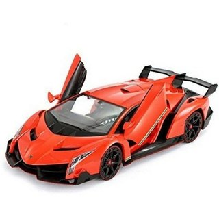 Fantasy India Lambo Remote Control Car With Opening Doors + Rechargeable,  Red/Orange/Yellow