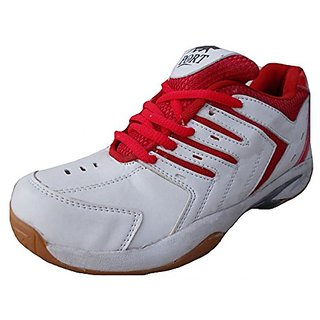 Port Mens Synthetic PVC Red Spark Badminton Shoes