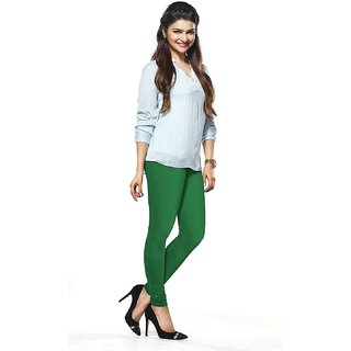 Women's Fashion Green Churidar Leggings