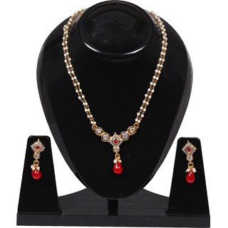 Jewels Gold Alloy Party Wear Fashionable Mangalsutra Set With Earring For Women  Girls