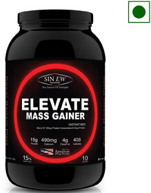 Sinew Nutrition Elevate Mass Gainer with DigiEnzymes, 3-1 Ratio (carb-protein), 3 kg Kesar Badam Pista